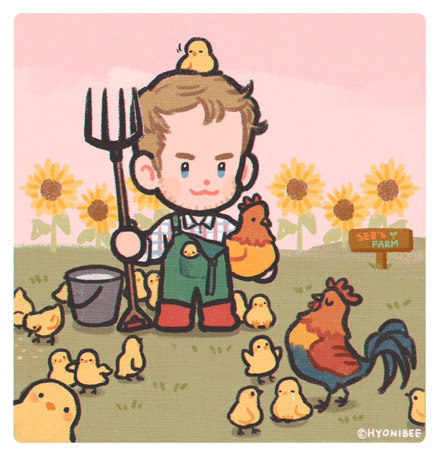 part-time farmer sebby 🐔🐥👨‍🌾🐥🐥🐥🐔  #sebastianvettel #seb5 https://t.co/dZNwWIGNtI