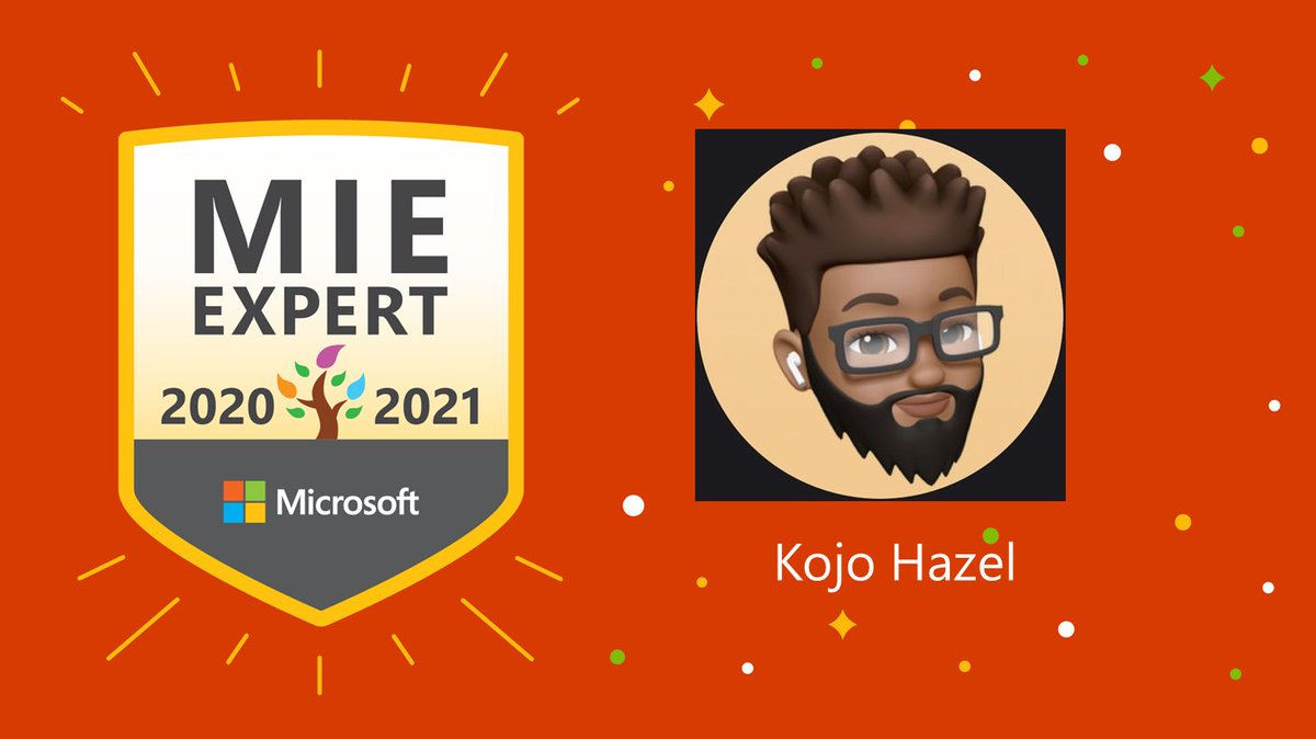 Looking forward to being part of this global community for another year 👌🏽 #MicrosoftEDU #MIEExpert