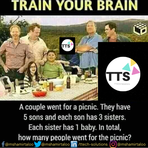 "Quiz of the Week! ""How many people went for a picnic?"" IQ Tester!  #ttechsol #ttechsolquiz #quiztime #quizoftheday #quizzes #quizinstagram #quizcompetition #iqtest #challenger #challengeyourself #challengeeverything #quiz #QUIZTIME #Quizzes #brainstorming #brainpic.twitter.com/QnCl9qVuWT"