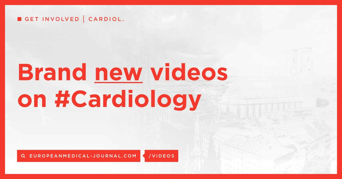 Subscribe to our Youtube channel for exclusive #Cardiology videos and webinars! https://bit.ly/2Wqtyuz pic.twitter.com/dIYEOKd1r3