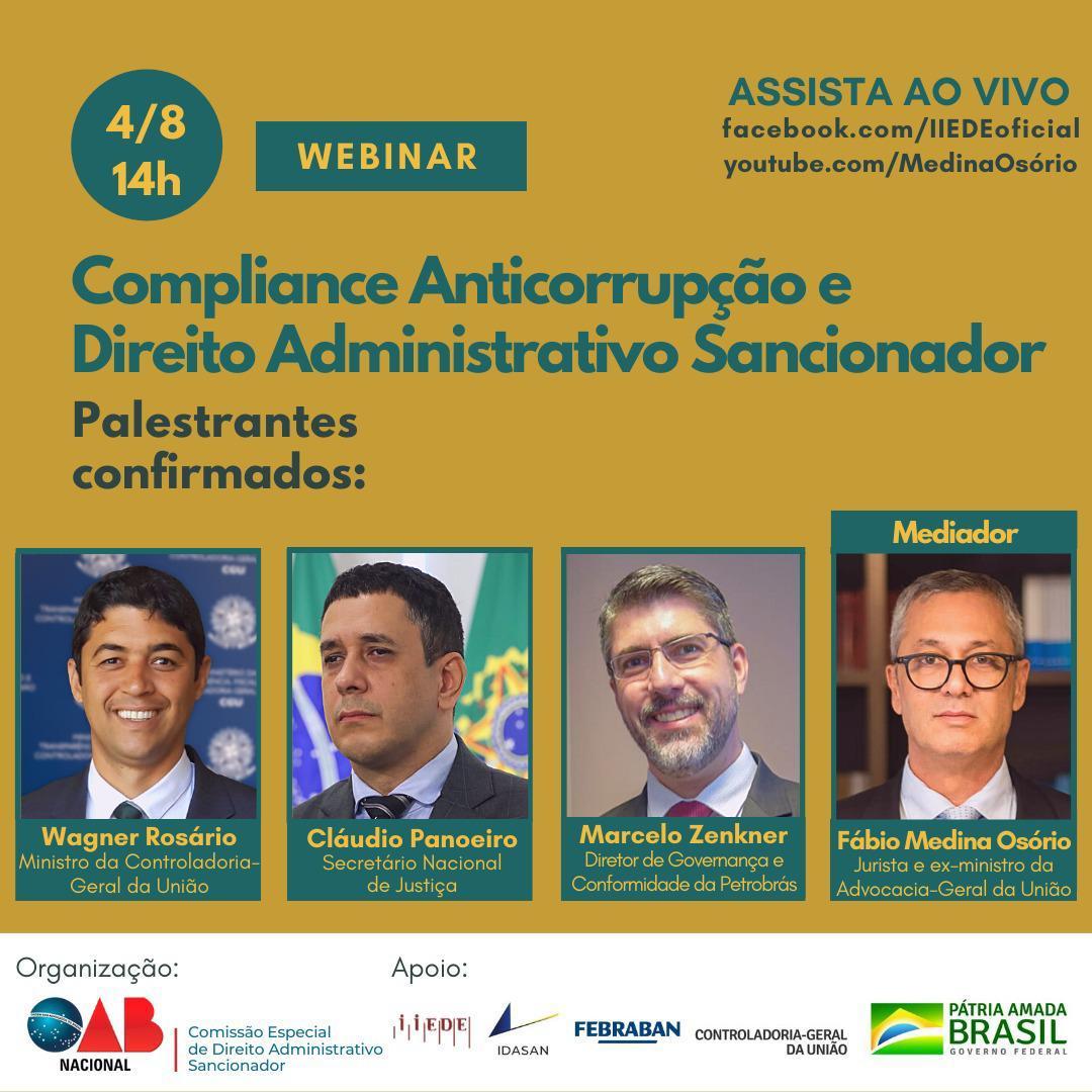 Um Webinar para refletir sobre a evolução do #compliance #anticorrupção e do direito administrativo sancionador. Vale acompanhar. https://t.co/gsRNGW1SOv ou https://t.co/c2L05p0mJi https://t.co/MFzifPnlql