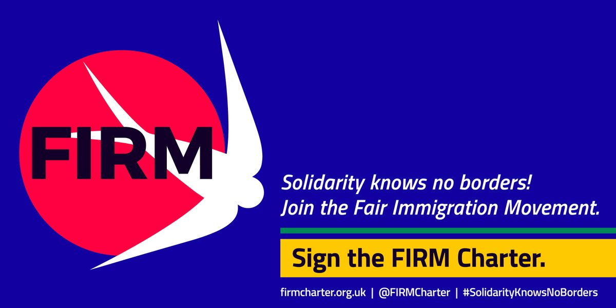 Lets make some noise! 📢 Join the a call for humane #Immigration inclusion policies that truly reflect our society's democratic values, and take a stand for dignity and justice of all. ✍️ Fair Immigration Charter firmcharter.org.uk and share #SolidarityKnowsNoBorders