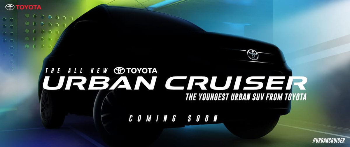 The All New Toyota #Urban Cruiser Coming Soon pic.twitter.com/S1zQB1gWNs