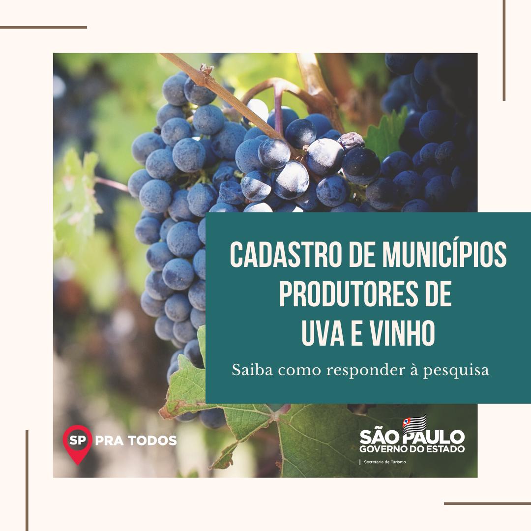 Pesquisa sobre enoturismo apoiada pela Secretaria!   O objetivo deste cadastro é mapear os municípios que trabalham com uva, vinho e enoturismo para desenvolvimento de projetos no segmento.  Acesse o formulário: https://t.co/a07P77JDXR   #Turismo #Enoturismo #Pesquisa https://t.co/4yrq6SptJW