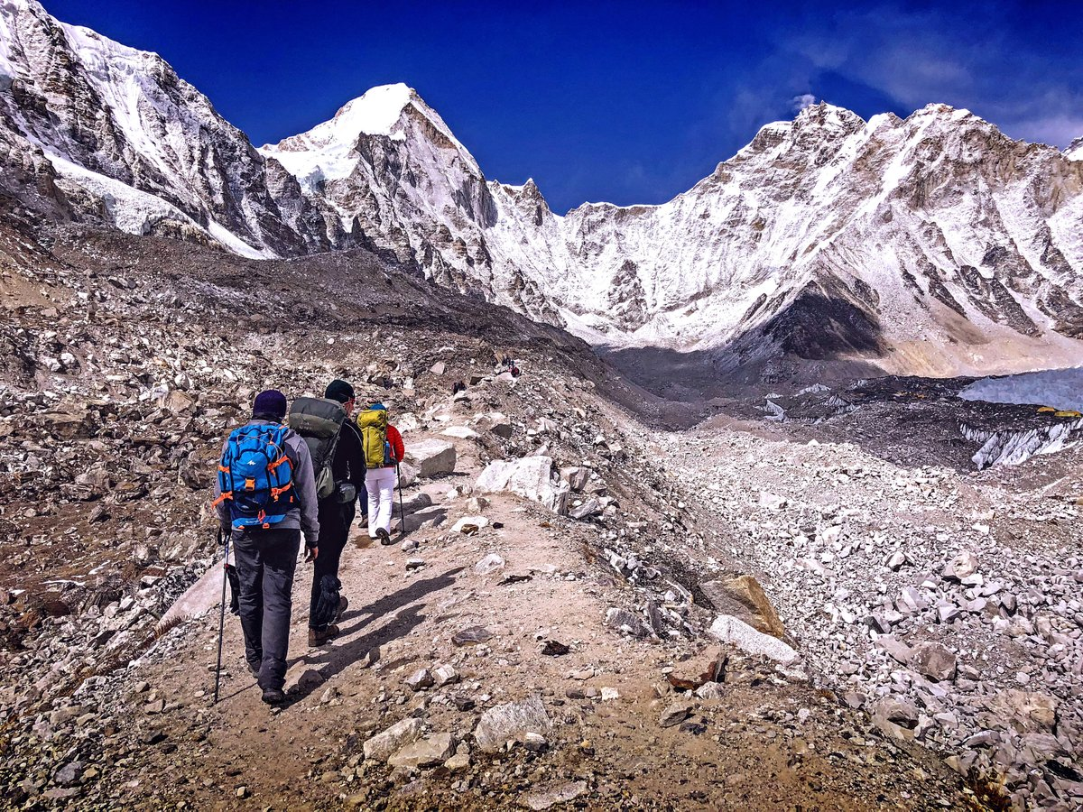 Approaching Everest Base Camp and the level of excitement is very high with travelers. Himalayas are truly magical place to strengthen ourselves physically and mentally. PLan your trip with us at: https://t.co/kLFMqVDEWs #Himalayas #travel #adventure #walking #NaturePhotography https://t.co/xJ4yqYUuBg