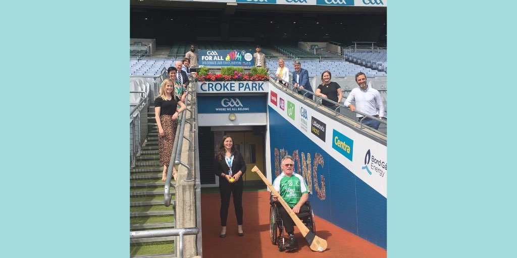 #YourOCO Dr Niall Muldoon was delighted to attend the launch today of @officialgaa's first National Inclusive Fitness Day on Sept 23.   It aims to promote the inclusion in sport of people from all walks of life, regardless of age, ability, nationality or ethnicity! #GAABelong https://t.co/tw4EQMmIul