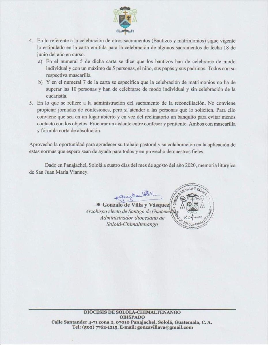 test Twitter Media - La Diócesis de Sololá-Chimaltenango, dice que las parroquias que lo consideren oportuno, pueden  reabrir sus puertas únicamente para la oración personal y para ello dan algunas indicaciones. https://t.co/3dzQcuFbmR