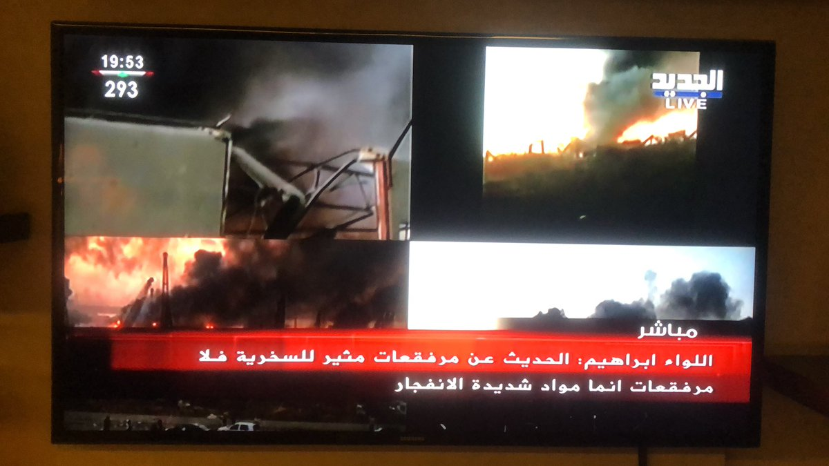 """Lieutenant Abbass Ibrahim: """"Exploison not caused by fireworks, but highly explosive material."""" #Lebanon https://t.co/SYU8dyasKM"""