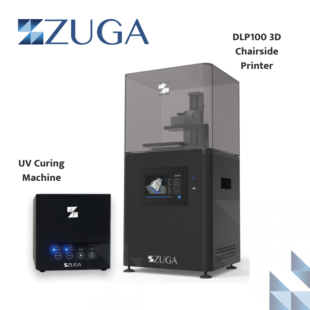 This week, Zuga will spotlight our DLP100 3D Chairside Printer!  Our high precision #3Dprinter can create #surgicalguides, models, and even #temporarycrowns! Our UV Curing Machine is also included with no additional charge.  Click here to learn more: http://www.zugamedical.com/3dprinterpic.twitter.com/84KQ6vBor5