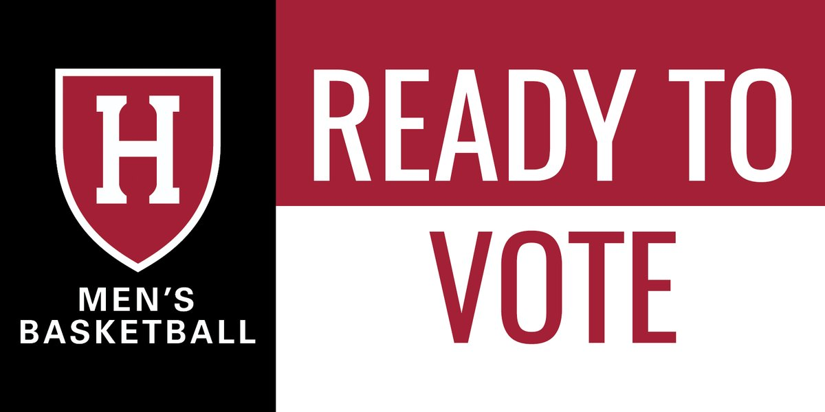 Proud that all of our eligible players are registered to vote for the Nov election! Let's keep the momentum going by encouraging student-athletes on all of our teams to participate in the electoral process. @allintovote @WhenWeAllVote @NABC1927 @IvyLeague @Coaches4Change @harvard https://t.co/iCmaWFZ0ni