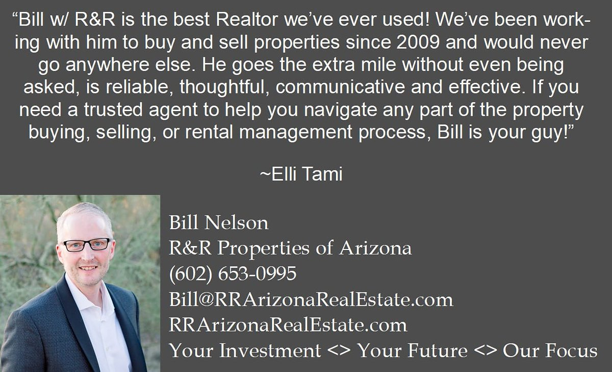 Another happy client and friend! Thank you Ellie for your kind words.   http://Www.rrarizonarealestate.com   . #realestate #forsale #success #happyclients #rrpropertiesofarizona #weappreciateyoupic.twitter.com/zsikmoZgR4