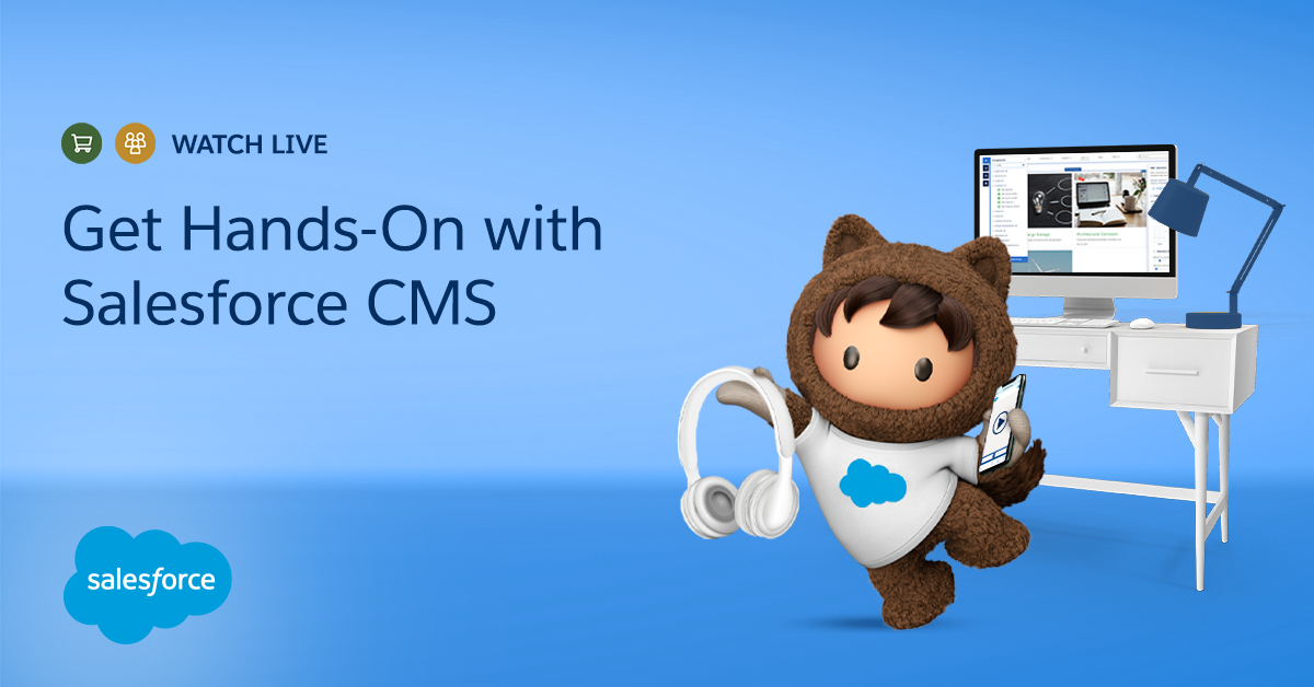 Ever wished you could explore Salesforce CMS with a pro? Register for tomorrow's workshop to get hands-on training from our experts. https://t.co/jC0orjInGl https://t.co/SlpSoFWOyo