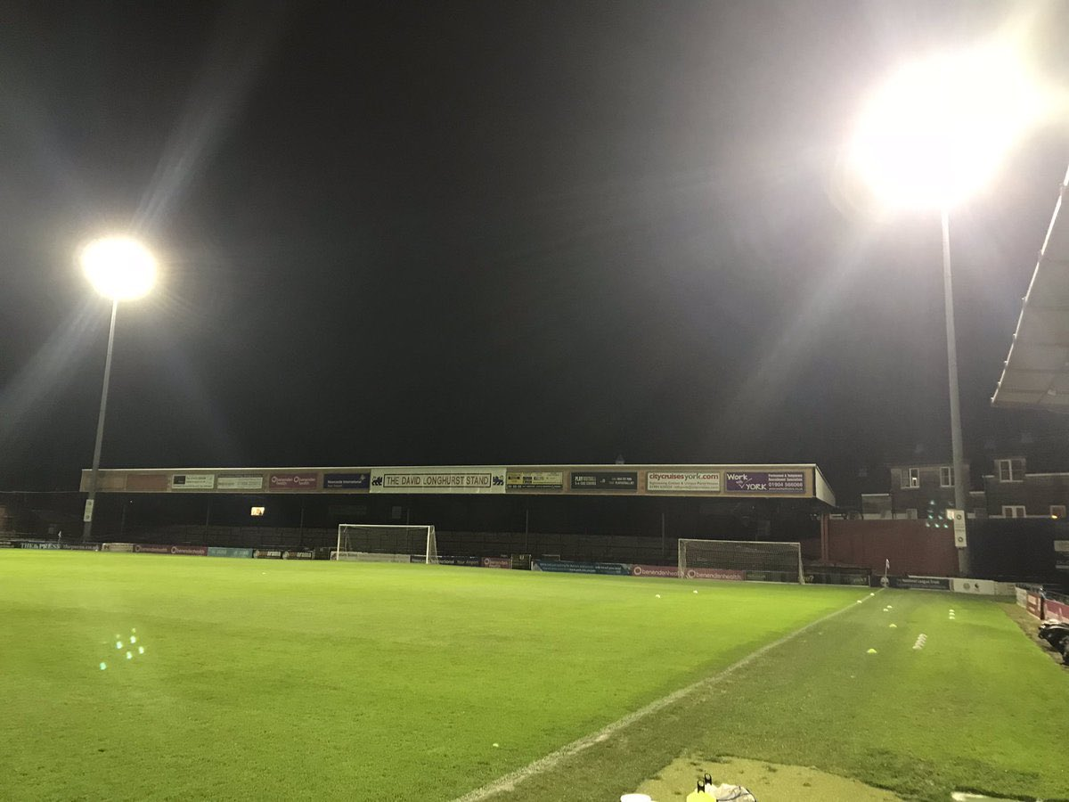 Would the last player at York City kindly turn off the lights. #ycfc