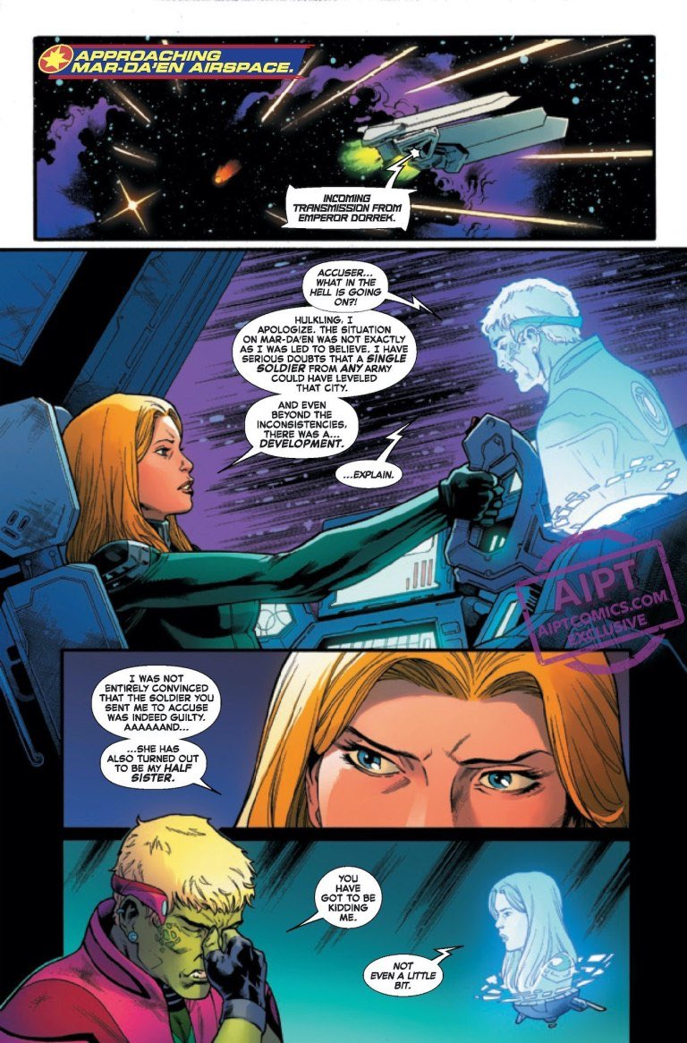 #CaptainMarvel #19 PREVIEW! OUT AUGUST 12! More of Carol and Lauri-ell or Earth! By @79SemiFinalist colors by @TBonvillain art by @csmitharts inks by @Adr_Benpic.twitter.com/FSAjH8JqTU