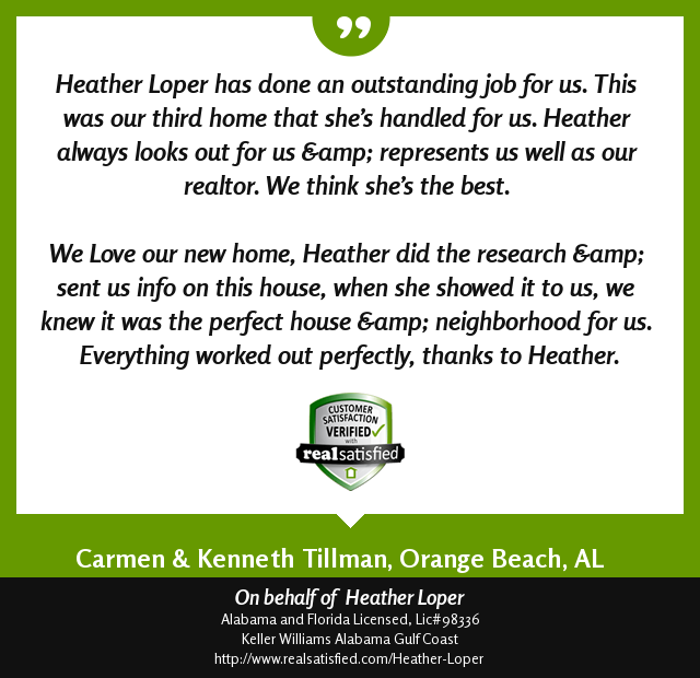 I'll take a recommendation like this anytime! See more: https://lnkd.in/eS5S5ub  #kellerwilliamsalabamagulfcoast #heatherloperteam #happyclients #ilovewhatidopic.twitter.com/nvhXqKuTpz