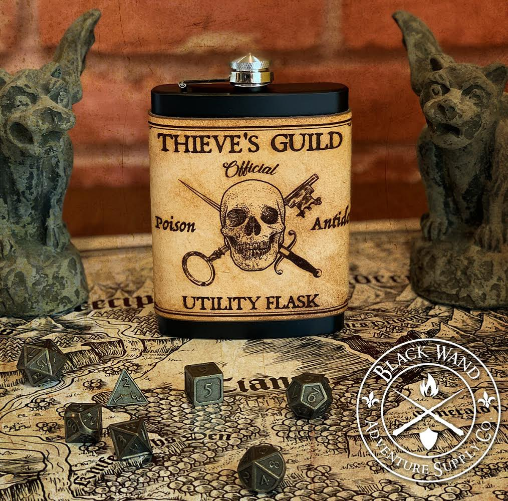 This is the first piece in a series of #DnD class inspired leather products I'll be releasing over the next several days: the Rogue Flask. #leather #fantasy #cosplay #larp #steampunk #flask #costume #dungeonsanddragons  Avail @ http://www.blackwandsupply.com pic.twitter.com/7awuY2eEAg