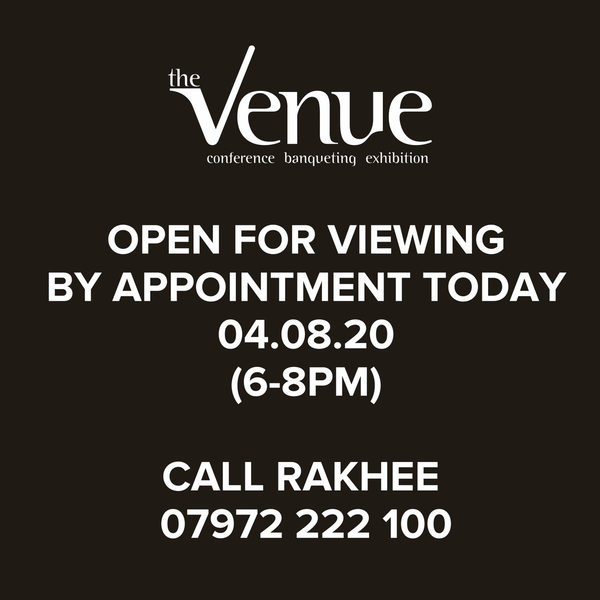 Call Rakhee to on 07972 222 100, discuss your event  A perfect place to host your unique: CONFERENCE . BANQUETING . EXHIBITION . CORPORATE EVENTS . WEDDINGS  http://www.thevenueltd.com   #wedding #weddingphotography #bridesmaiddress #bridesmaiddresses #weddingdress #weddinggown pic.twitter.com/Pc4djie3VF