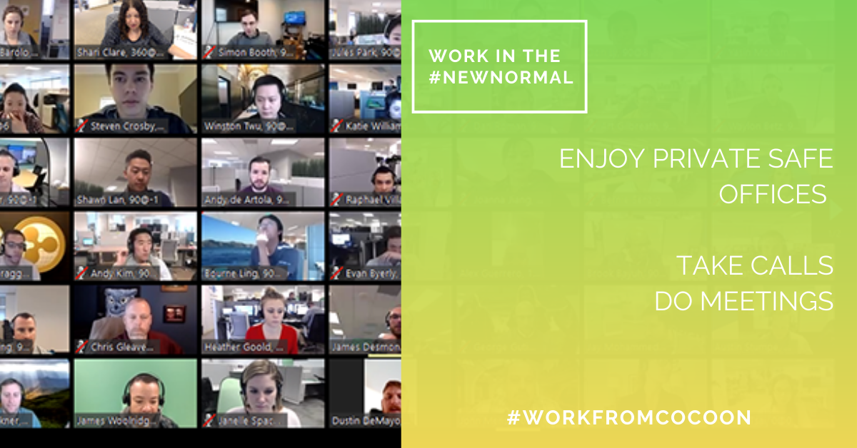 Work in the #NewNormal is going to be #biggerandbetter. We care about your #safetyatwork. #workfromcocoon #getitdone #startups #founders #bethechange #dothework #dowhatyoulove https://t.co/Fd6XlIBr4L