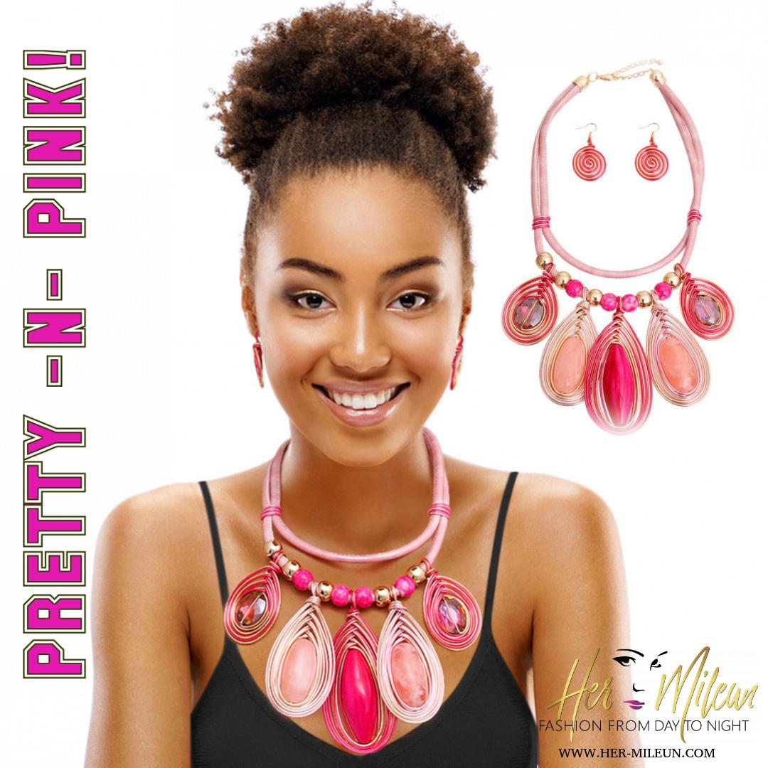 Pretty -N-Pink!  Fashionable Jewelry & Accessories http://www.her-mileun.com  #fashion #shopping #onlineboutique #jewelry #accessories #celebrity #celebrityinspired #her_mileun #women #ilovejewelry #cute #fashionista #model #Necklace #Pendant #unique #bold #pinkpic.twitter.com/gLxZ3qKggo
