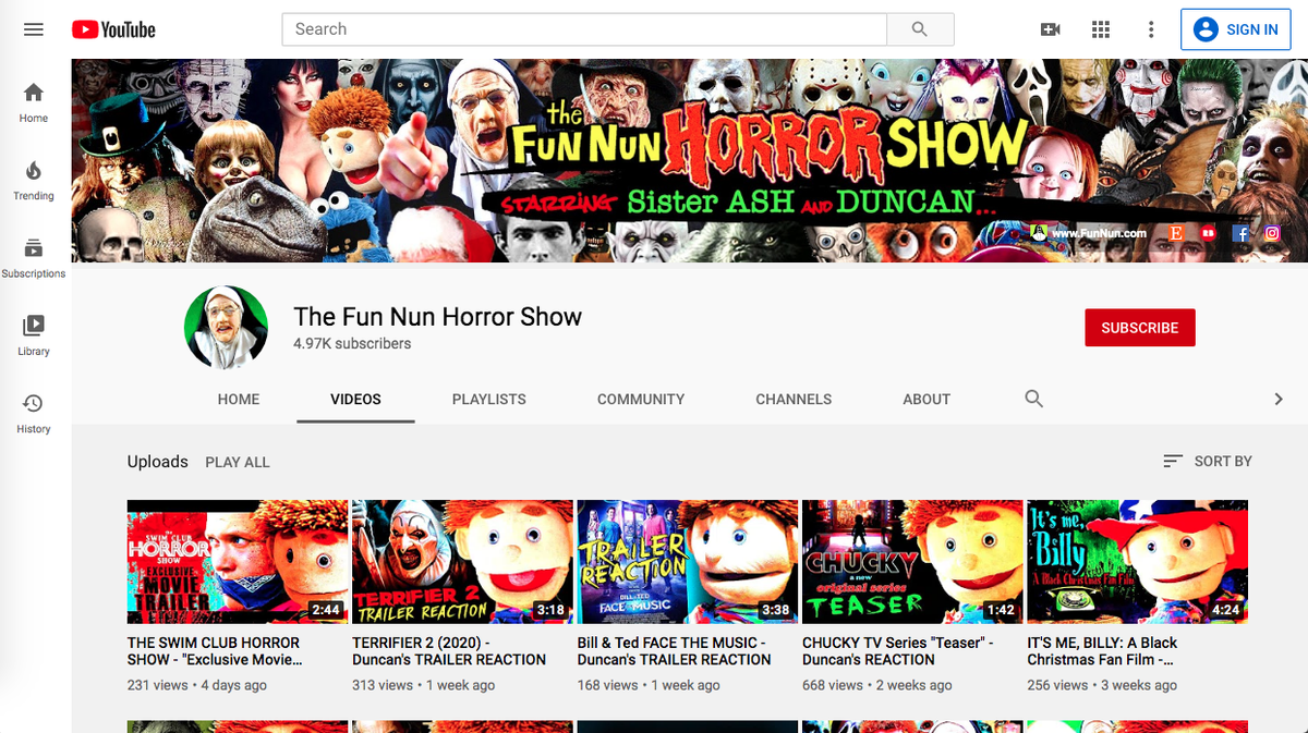 "Watch, enjoy, ""SUBSCRIBE"" for original HORROR/COMEDY!!! --> https://www.youtube.com/channel/UCX4Xceiz8N6kkVkzGZOHE3Q/videos… #HorrorFans #Horror #HorrorMovies #HorrorComedy #indiefilm #webseries #fun #nun #Duncan #Halloween #Chucky #FridayThe13th #MichaelMyers #HorrorShow #cinema #Terrifier2 #HorrorArtpic.twitter.com/5jXvLobiJ9"
