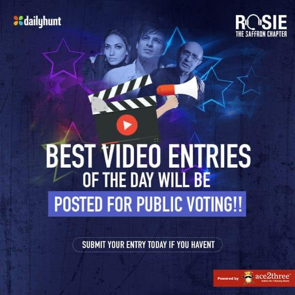 Now you can vote shortlisted video entries & pick your favourites! Top voted entries to be judged by Kishore Namit Kapoor! Submit entries & get a chance to star alongside lead actors in #Rosie - bit.ly/RosieTalentHunt #RosieTalentHunt @vivekoberoi @mandiraa_ent #PrernaVArora
