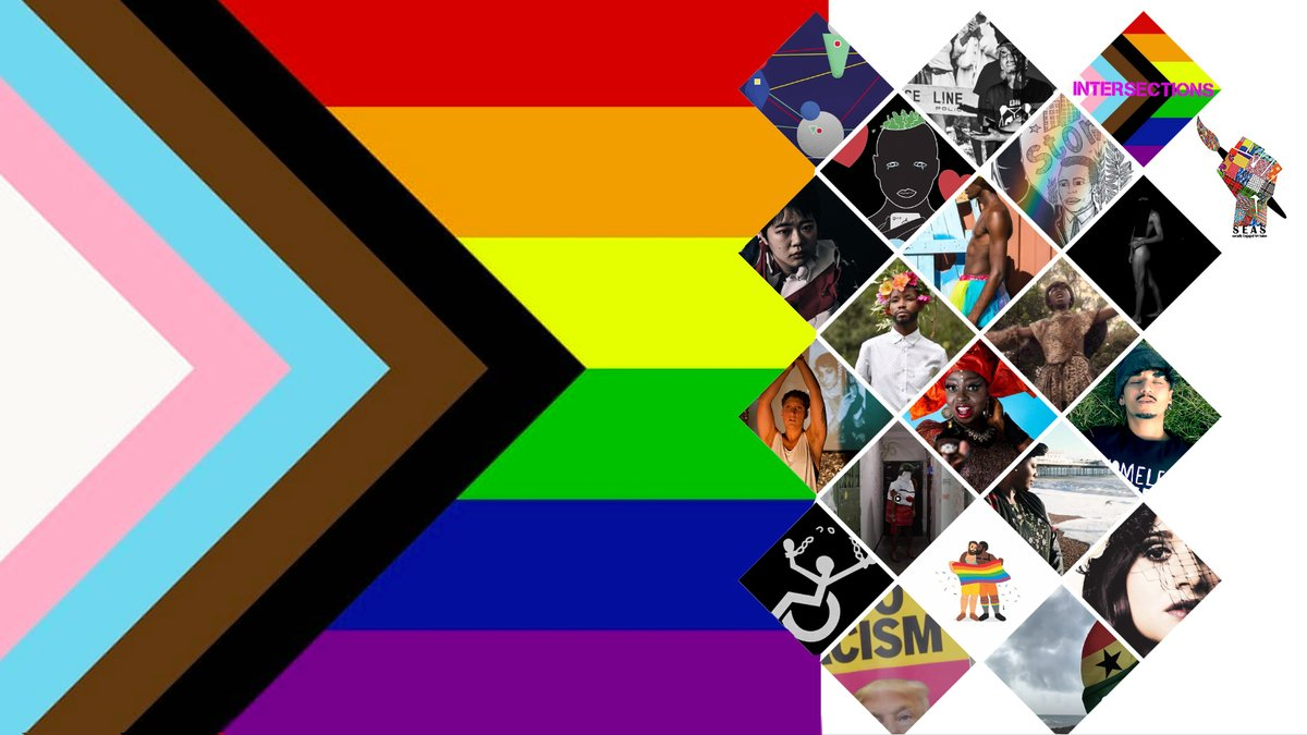Intersections - SEAS' Pride exhibition. See what all the rave is about and get your free tickets for the online opening now: https://t.co/U8Qzu6If30 #brighton #LGBTQAI @PrideBrighton @brightonargus @QueerHistGold https://t.co/BUAdMudDCb