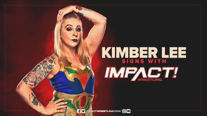 Impact Wrestling Signs Kimber Lee