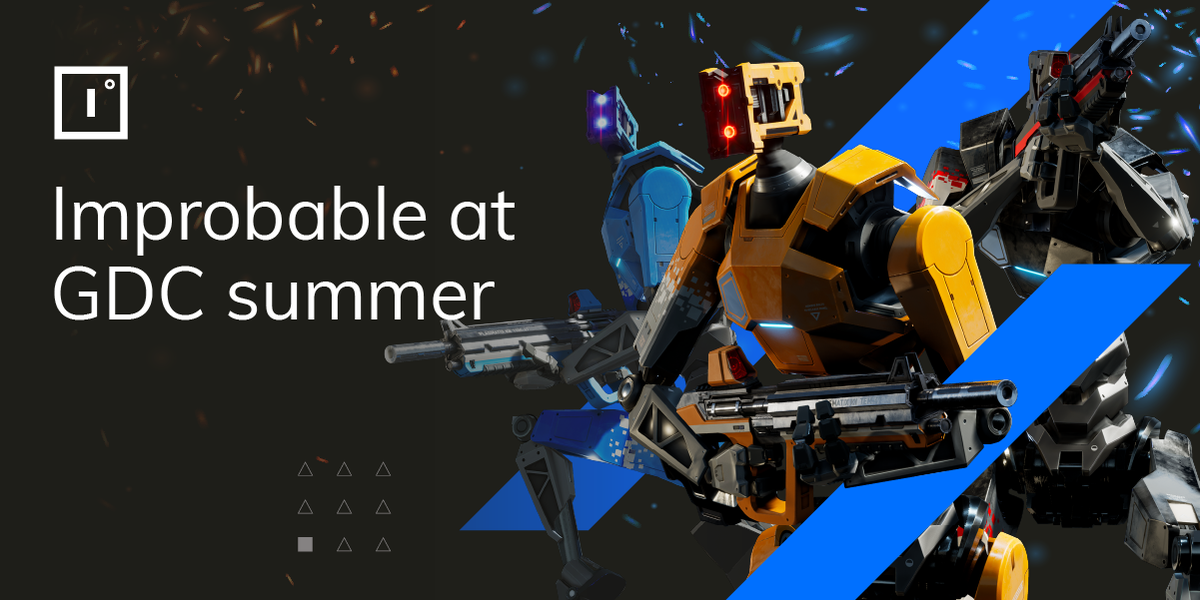 #GDCSummer starts today and we'll be online to catch up with the gaming community.  If you're attending & want to learn more about the opportunities we provide for #multiplayergame #developers, reach out to our team via @Official_GDC's matchmaking system: https://bit.ly/ImprobableGDCSummer …pic.twitter.com/ERxYj9vrAv