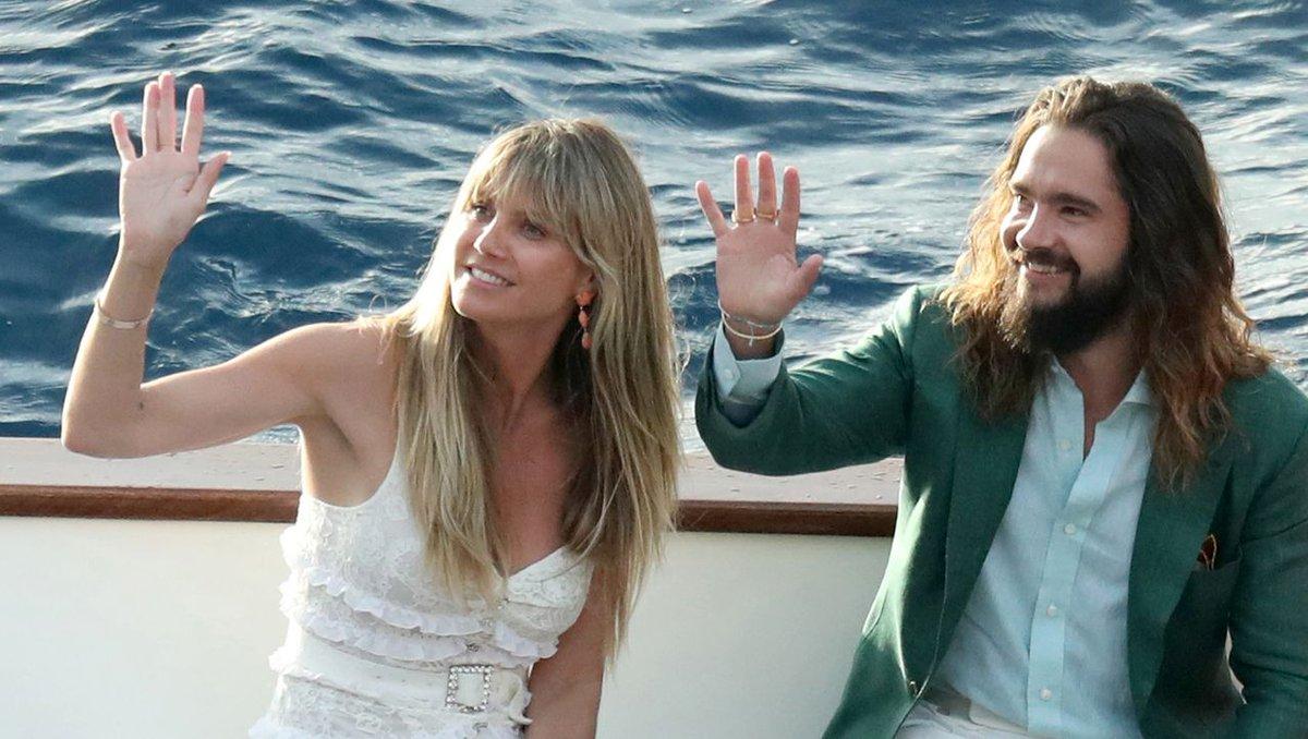 """Heidi Klum und Tom Kaulitz am ersten Hochzeitstag: """"Ich verliebe mich jeden Tag neu in Dich"""" http://dlvr.it/RczT2qpic.twitter.com/8azaZaVhrr"""
