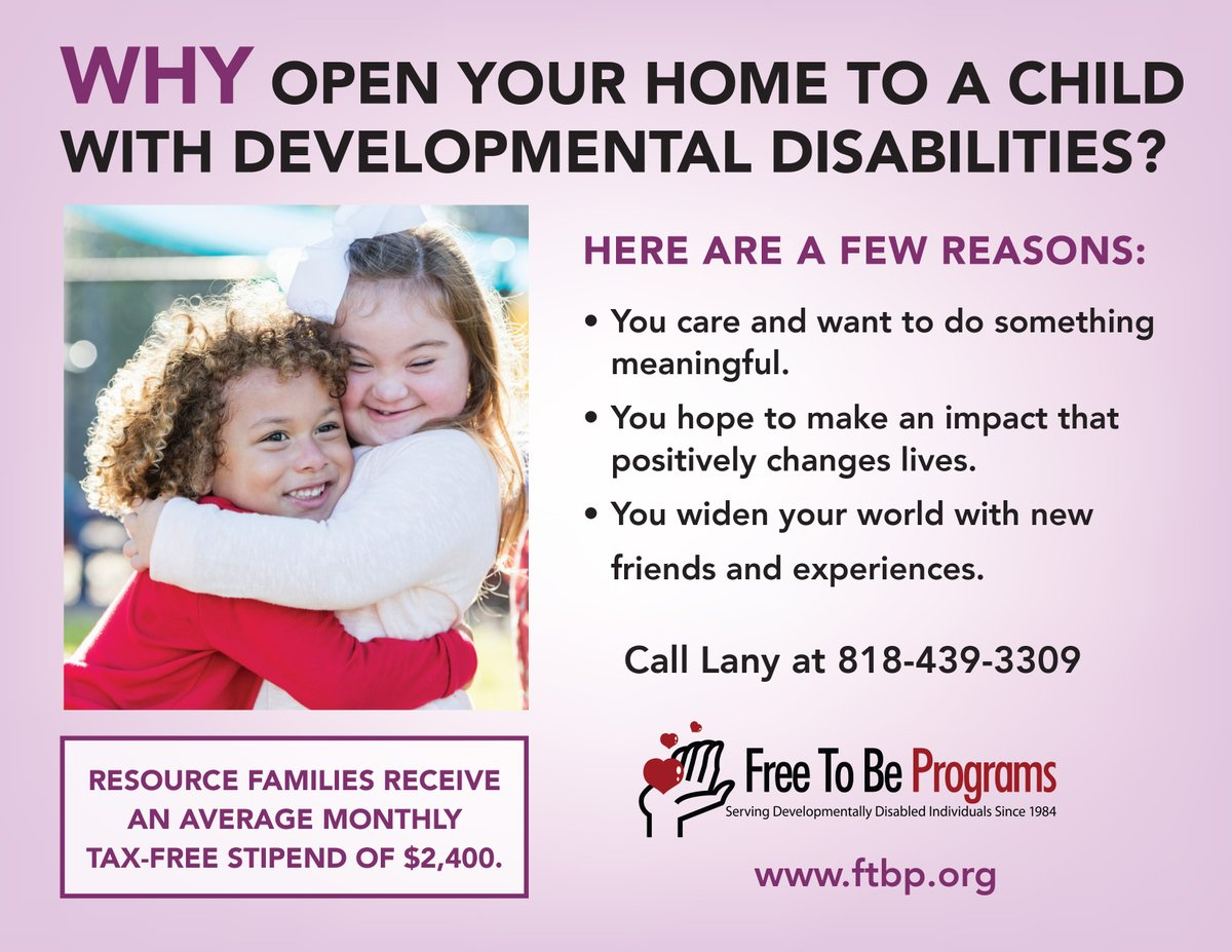 You can foster children or support adults with developmental disabilities. Though you do not need to be married or partnered to foster or adopt, if you are, the $2400 tax free monthly stipend can sometimes enable one partner to stay at/work from home. #Options. #Selfemployedlife pic.twitter.com/yrnXbAOaor