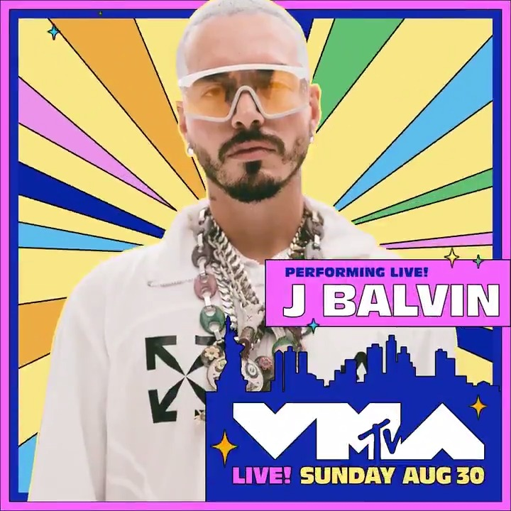 🗣LET'S GOOOO, @JBALVIN is performing at the 2020 #VMAs 🌼 So excited for his performance! 🎉 August 30 on @MTV ❤️