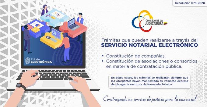 #FelizMartes  Recuerda que para realizar trámites a través del Servicio Notarial Electrónico es necesario contar con firma electrónica. Revise los detalles de la normativa ingresando a https://bit.ly/RCJ075_2020pic.twitter.com/Dwqs6f8n3x
