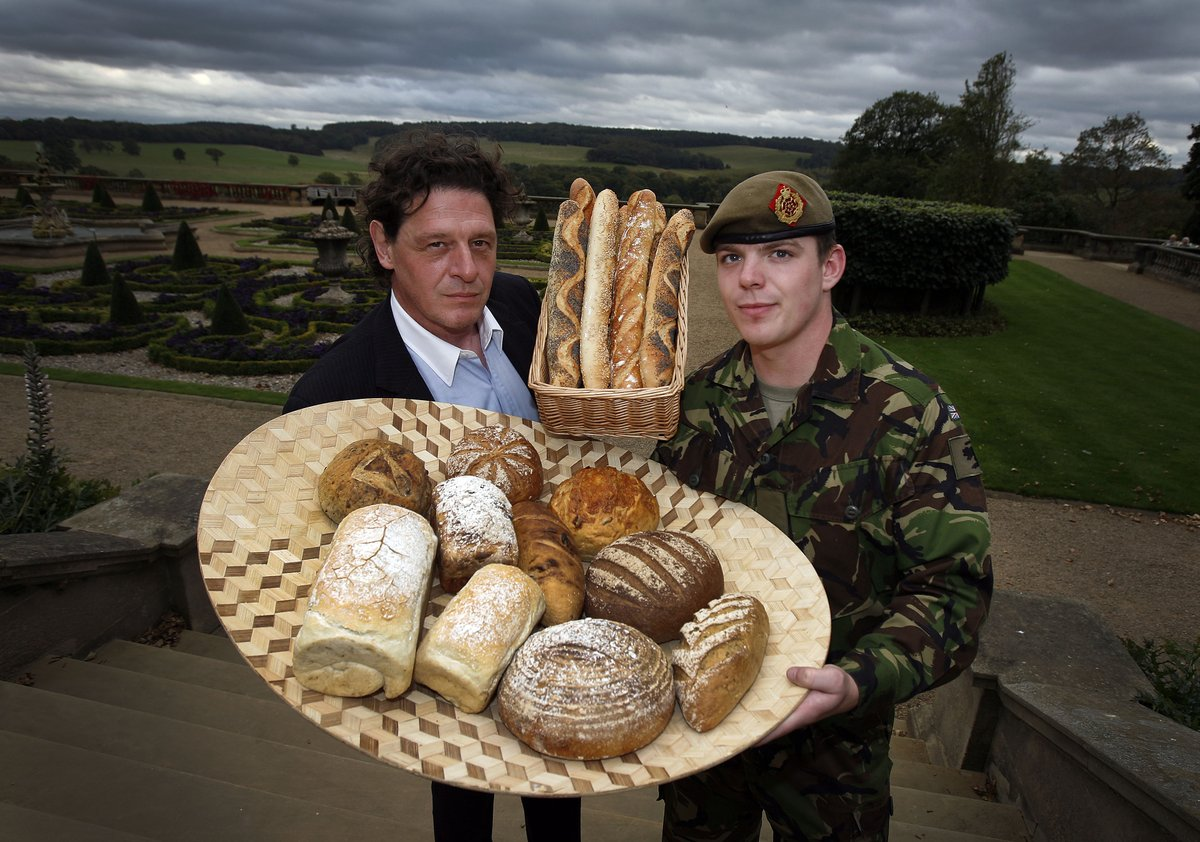 From Fire Power to Flour Power. In 2011 we raised funds, launched and set up the therapeutic bakery – the Veterans Artisan Bakery - at #CatterickGarrison for @RiversideUK with @RosemaryShrager and @mpwgroup #SocEnt #mentalhealth #Veteranspic.twitter.com/NxVihs2ot0