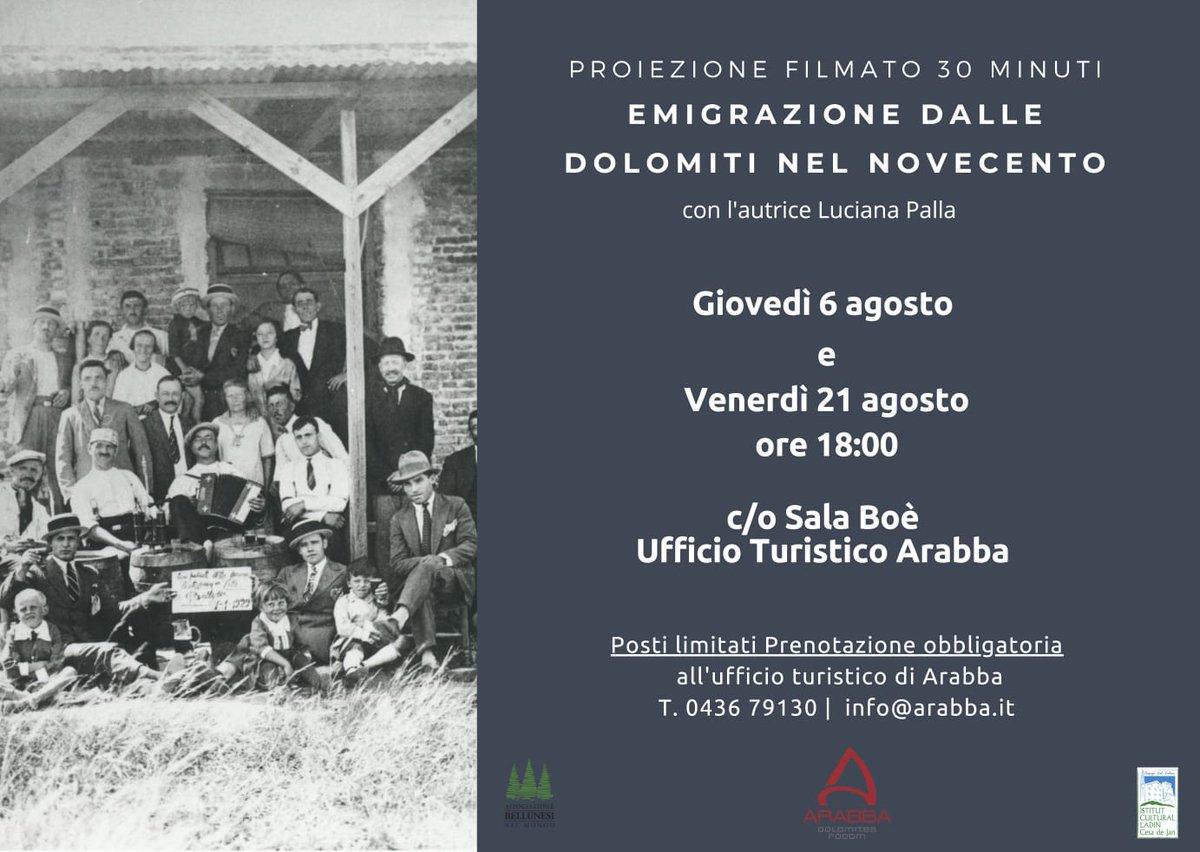 """63. """"Emigrazione dalla Dolomiti nel Novecento""""..."""