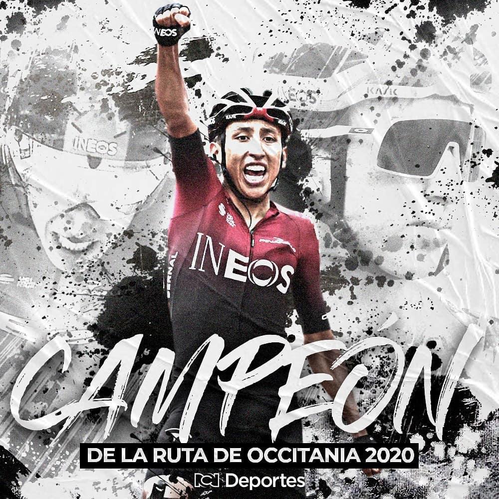 Siempre ÉL  El ciclista colombiano @Eganbernal se coronó campeón de la Ruta de Occitania 2020.  @DeportesRCN  #egan #eganbernal #ciclismomundial #ciclistas #colombia #ciclismo #campeon #LaCariñosaNeiva #deportes #sport #instasport #likesforlike #likesforfollow pic.twitter.com/0gIdXpmxL4