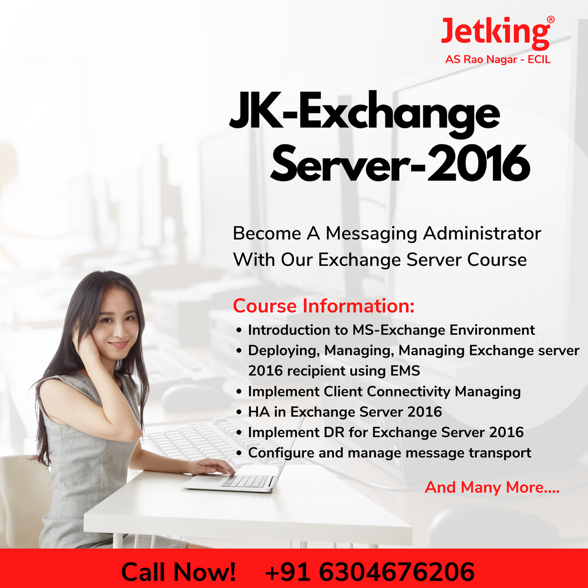 Offering the best exchange server courses. Learn throughout with the best. Visit our Website https://www.jetking.com/  #computer #technology #computerscience #computerengineering #AWS #Ethicalhacking #coding #webdeveloper #software #programmers #Jetking  #cloudcomputingpic.twitter.com/nNyOdNSBng