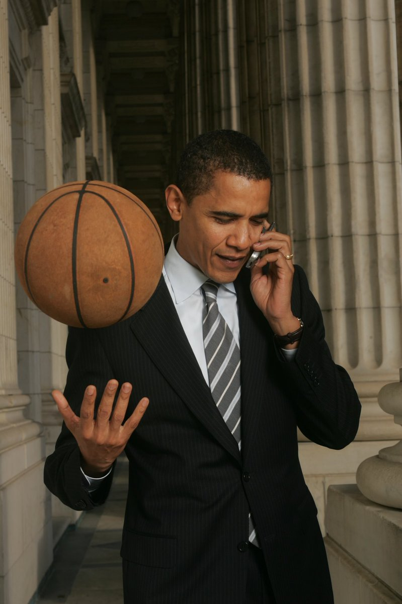 Happy Birthday Mr. President, probably calling about the next pickup game in that first pic https://t.co/tznszoXtts