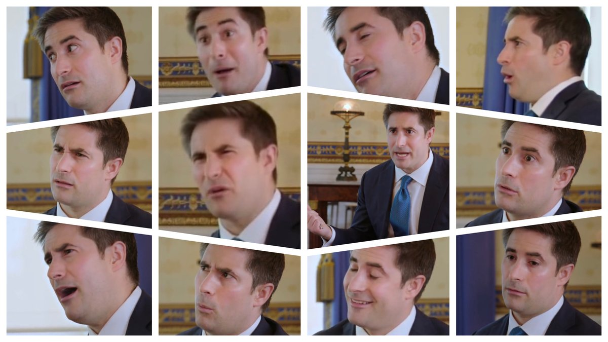 All the best reactions of @jonathanvswan as he listened to @realDonaldTrump's responses. Which is your favorite? @axios #ItIsWhatItIs https://t.co/TWL5bOvESX