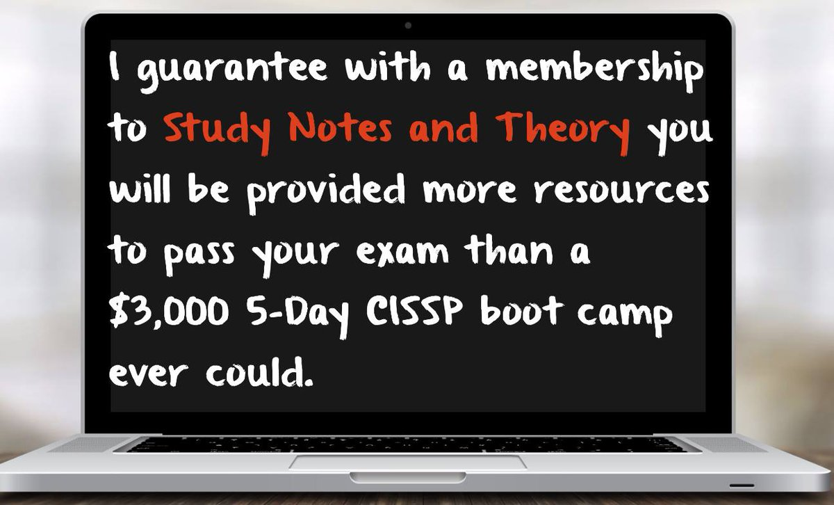 Guaranteed CISSP pass? No. Everything else? Yes. https://www.studynotesandtheory.com/signup  ------- > #cissp #security #ceh #hacking #cybersecurity #infosec #pune #bengaluru #chennai #ethicalhacking #tech #breach #data #firewall #cisco #paloalto #checkpoint #cryptography #sans #informationsecuritypic.twitter.com/92Orr0wccI