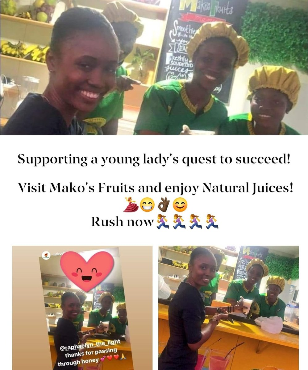 Supporting a young ladys quest to succeed! Proud of you, Mariam! Visit Makos Fruits and enjoy Natural Juices!🇱🇷