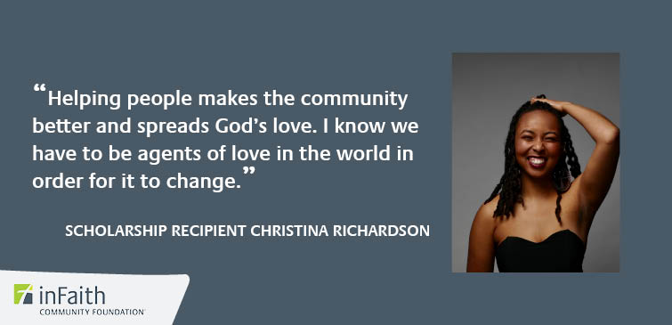Dedicated to service, WomenLead Scholarship recipient Christina has a goal to start her own private therapy practice, focusing on family and marriage in the black community.   Read more: https://bit.ly/3gteC7bpic.twitter.com/zjtO6DczvQ