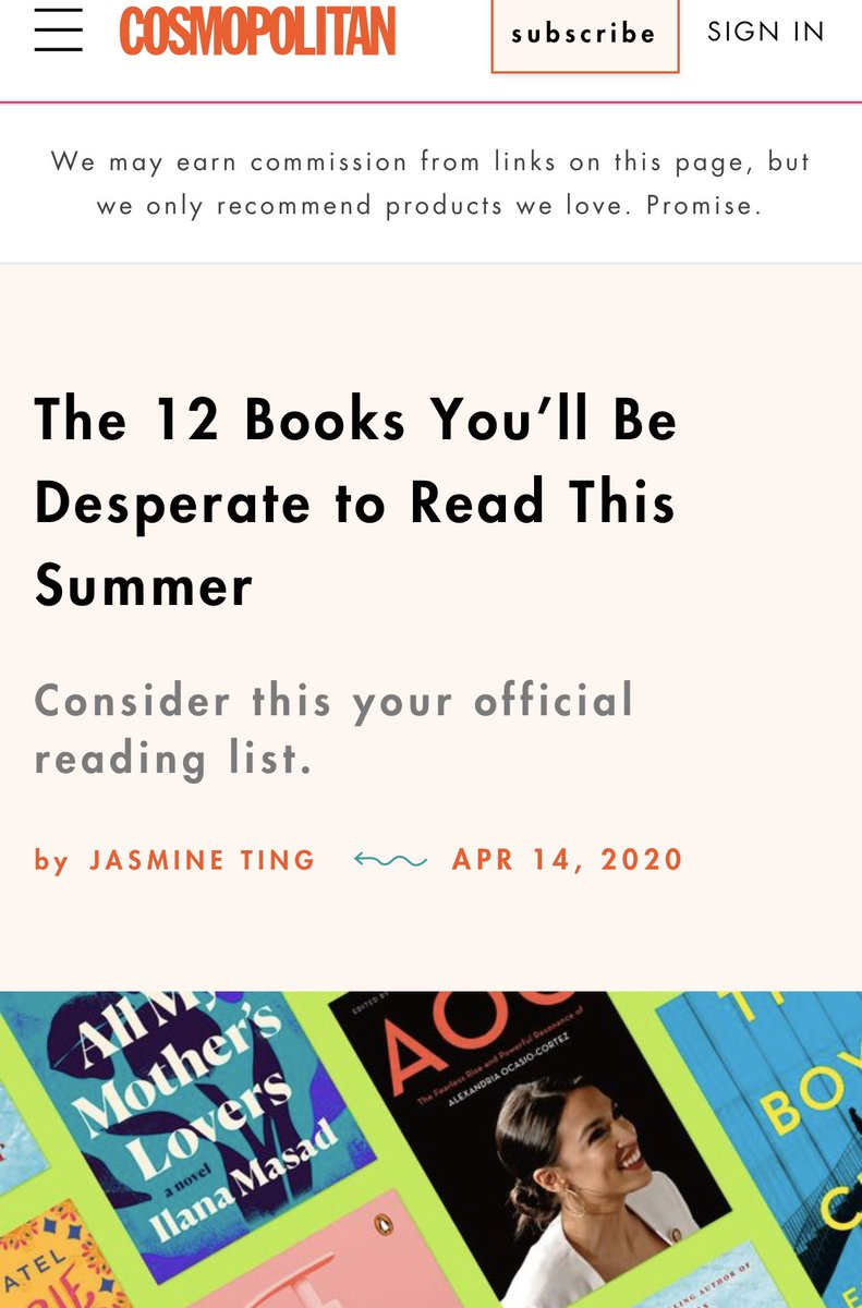 """""""The 12 Books You'll Be Desperate to Read This Summer...""""  Thank you so much @Cosmopolitan - late to this but super grateful.  Our book is out next week, Aug. 11th!  you can pre-order yours now...  https://t.co/wjUW7kRdms https://t.co/jc8RB9O4si"""