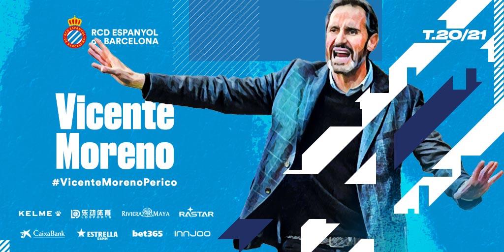 Vicente Moreno, nuevo entrenador del Espanyol.