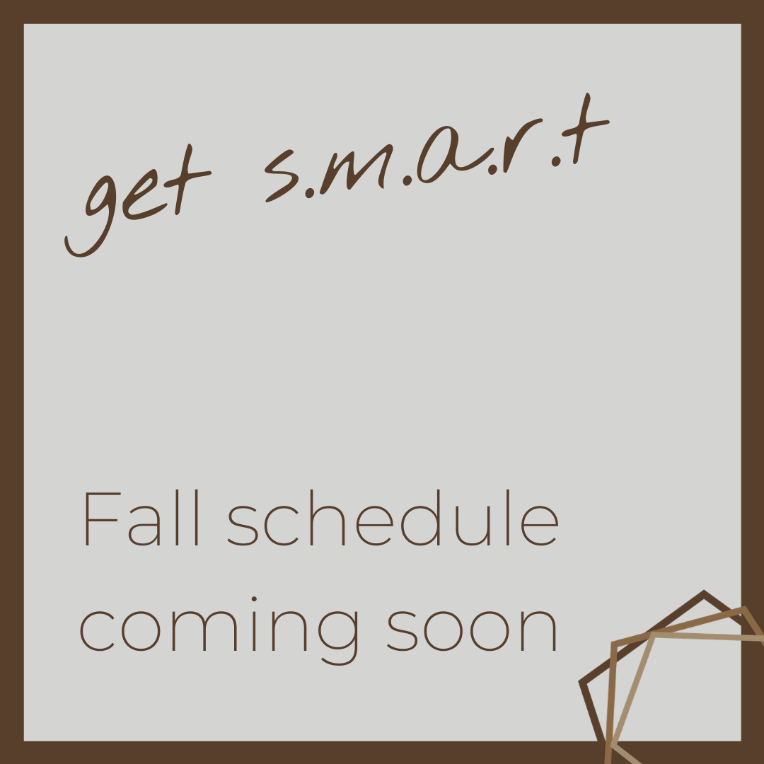 The fall s.m.a.r.t. schedule will be shared on Thursday! Get set for four incredible sessions that will help the busy #entrepreneur like yourself plan marketing and communications tactics that will elevate your brand and support your #businessgoals. pic.twitter.com/JHU2vVJlJF