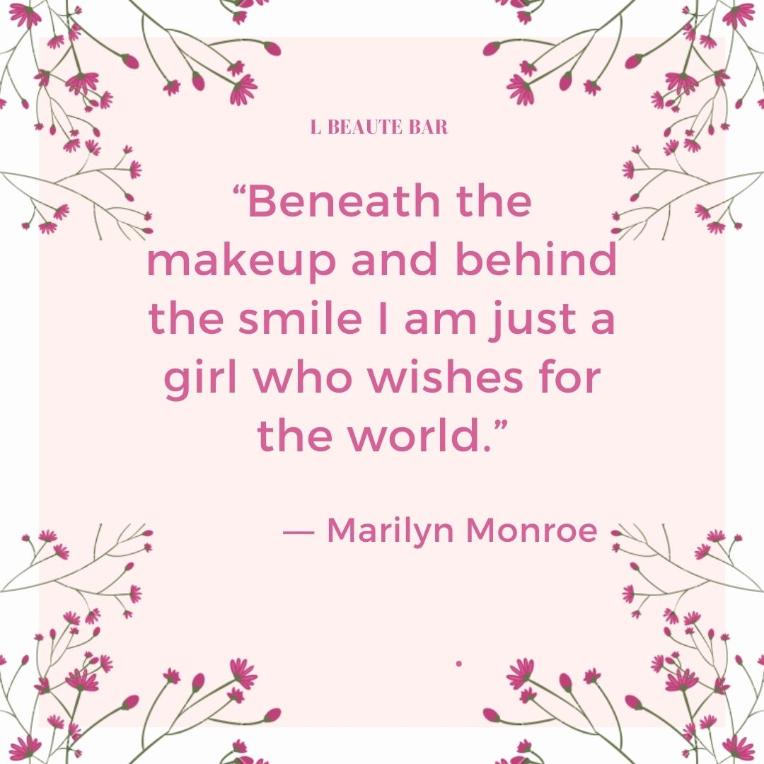 """""""Beneath the makeup and behind the smile I am just a girl who wishes for the world."""" ― Marilyn Monroe  #beautythreads #makeupguru #makeupproblems #monakattan #magneticliner #lilylashes #lashforever #beautytrends #beautymeme #makeupartist #makeuploverspic.twitter.com/5OHaSugnfX"""