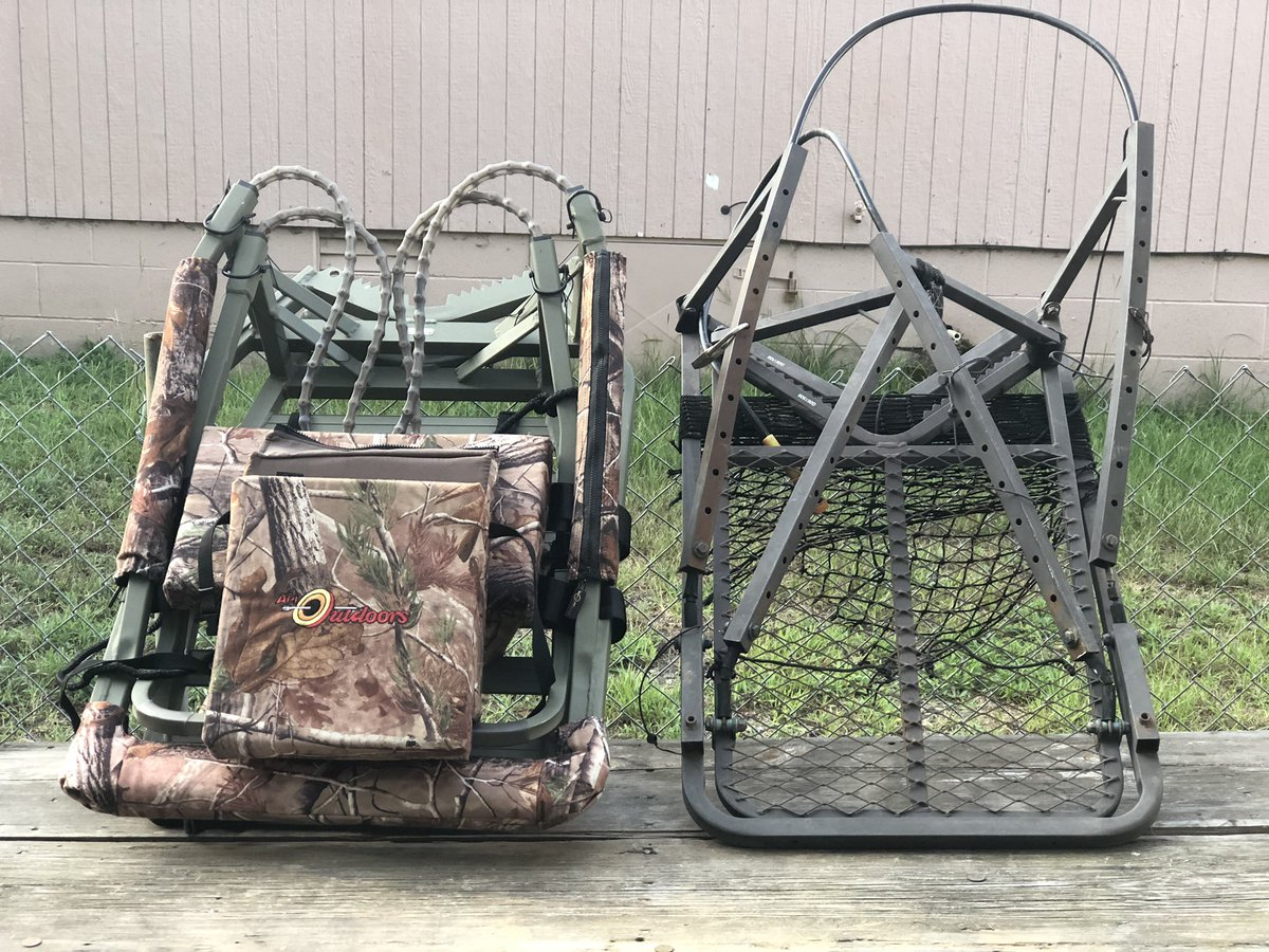 Out with the old in with the new.  Finally made the much needed upgrade.   #apistands #bassproshop #thepulsetv #publiclandhunting #deerhunting #arkansasoutdoors #deerseason2020 #thenaturalstate #arkansashunting #upgrade #deerseason #arkansas @BassProShops https://t.co/acFnz2vwrc