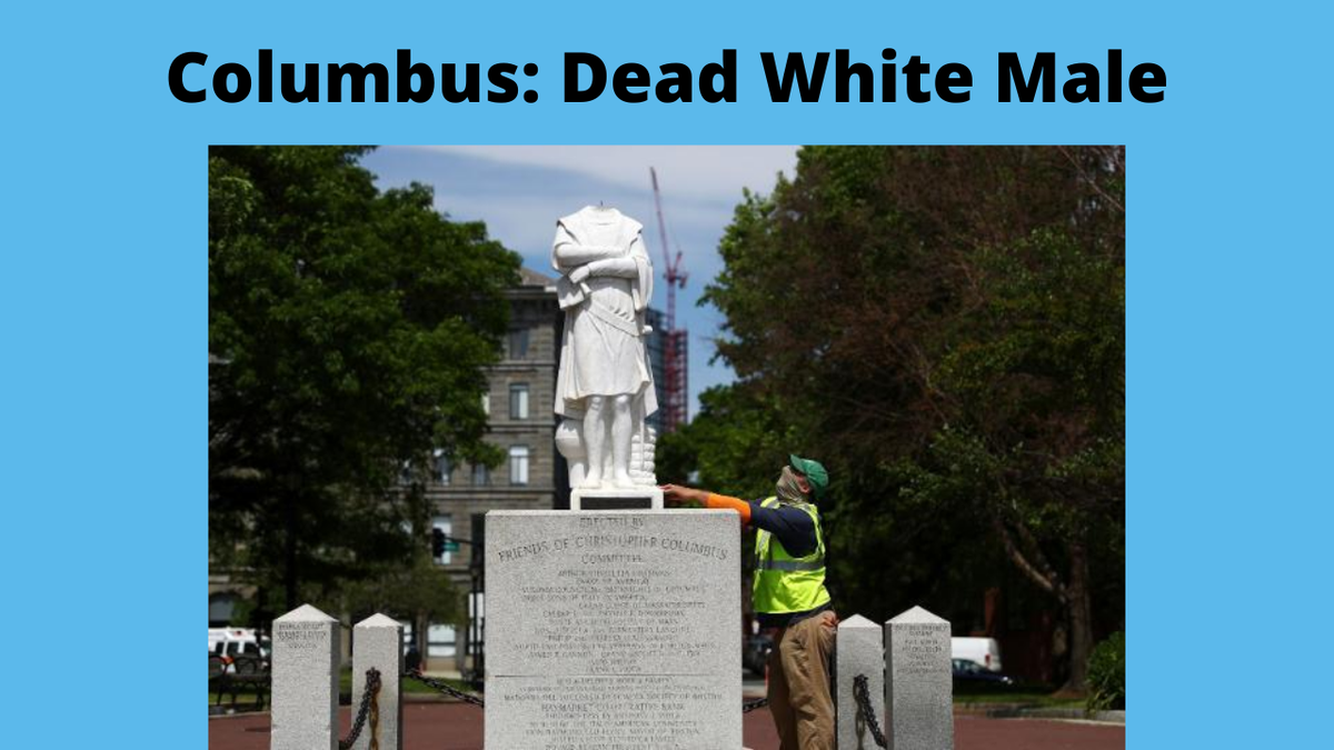 RT>>> Christophe Columbus:              DEAD WHITE MALE;   Myoptic 1619 Real #History #Political  #BLM https://youtu.be/bBz65HGESSQ pic.twitter.com/ODVed2nz0W