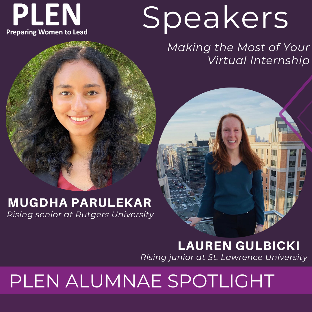 Our #alumnae network is filled with amazing #changemakers. Tomorrow two of our amazing alumnae will join our PLENtalk with the Washington Internship Institute. Registration closes today! Register at: http://ow.ly/AMjV50ALtDm #PLEN #Womenlead pic.twitter.com/X7x8Wp4FuC
