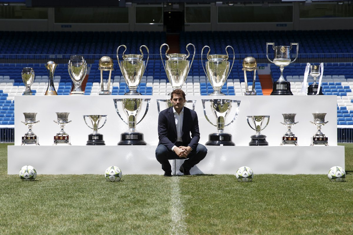 ⚪️ Iker Casillas won 19 titles in 725 matches for Real Madrid during 16 seasons 🏆  #UCL https://t.co/ikIE8S7VGN https://t.co/BnN5enasm7