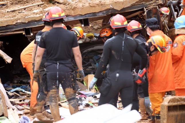 Спасательная операция в Южной Корее